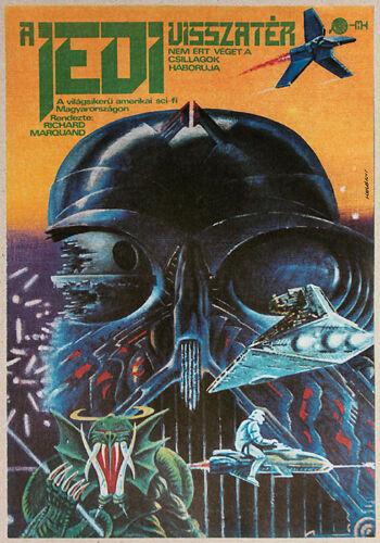 ORIGINAL Hungarian Return of the Jedi MOVIE POSTER 1984 - STAR WARS   POST-SOC