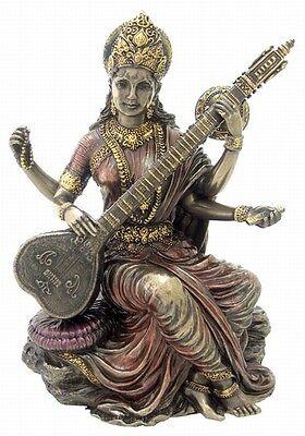 Sarasvati Saraswati Statue Hindu Goddess Of Learning Education Figurine  1973
