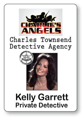 Charlies Angels Halloween Costume (KELLY GARRETT CHARLIE'S ANGELS NAME BADGE TAG HALLOWEEN COSPLAY PIN)