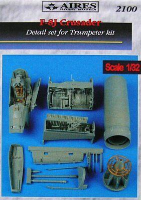 Aires 1/32 F-8J Crusader Detail Set for Trumpeter kit 2100