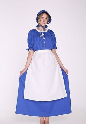 Adult Women's Pioneer Trek Pilgrims Frontier Prairie Colonial Dress Costume - Woman Pilgrim Costume