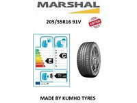 NEW MARSHAL 205 55 16 91V MU12 BY KUMHO (Price includes Fitting)