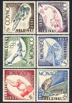 Monaco 1952 Olympic Games/Sports/Cycling/Basketball/Football 6v set (n38699)