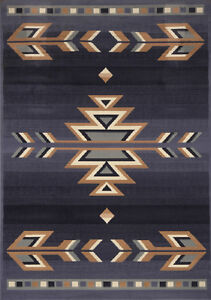 Rustic Southwestern 5x8 Arrows Lodge Style Cabin Area Rug -Actual 5' 3