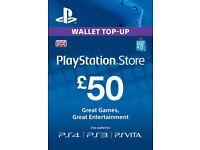 Digital £50 PS store wallet top up.