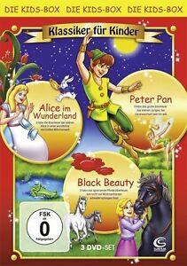 Klassiker für Kinder - Boxset mit 3 Filmen (Alice im Wunderland, Peter Pan (OVP)