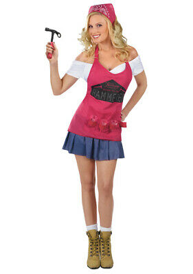 Sexy Happy Hour Hammer Time Handyman Tool Girl Adult Halloween Costume