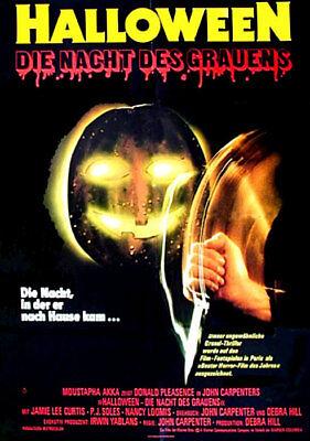 Orig.Kino-Plakat A1 - Horror - Jamie Lee Curtis - Gefaltet (Halloween 1 1978)