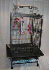 Grande cage pour moyen perroquets avec parc