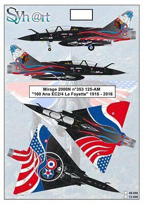 "Syhart 1/72 Dassault Mirage 2000N n°353 125-AM ""100 years EC 2/4 La Fayette"""