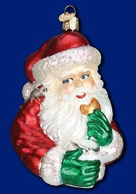 """Cookie Break Santa"" (40238) Old World Christmas Glass Ornament"