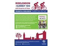 Cyclists Needed for RideLondon 100 2017!