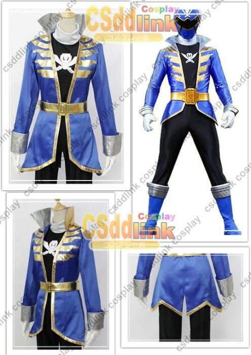Kaizoku Sentai Gokaiger Gokai Blue cosplay costume