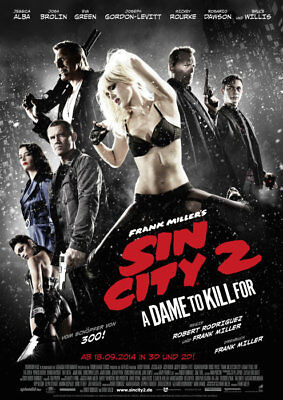 Sin City 2: A Dame to Kill For - Filmplakat A1 -  Mickey Rourke, Jessica Alba, J