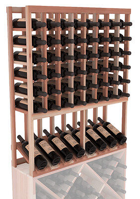 High Reveal Wine Cellar Rack Kit in Premium Redwood.  Free Shipping!