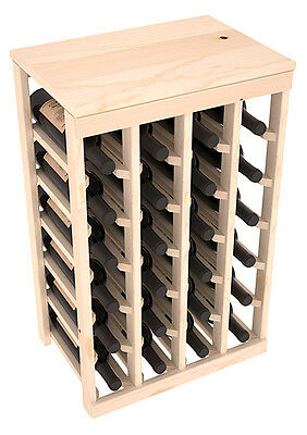 24 Bottle Kitchen Wine Rack Kit in Ponderosa Pine. Hand Crafted in the USA.