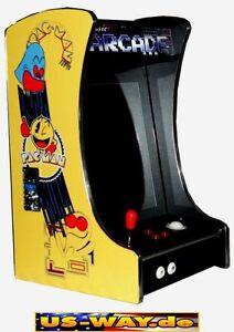 G-288 Pac Man Classic Arcade TV Video Spielautomat Thekengerät mit 412 Spiele