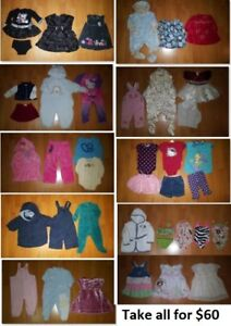 6-12 Mths Baby Girls Clothing Lot 2 (Take 40 Pieces for $60)