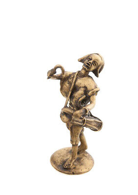 Statue Musician Brass Player of Djembe Tama Art and Bronze African AA789