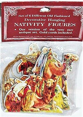 NATIVITY FIGURES Christmas Ornaments VINTAGE RARE Shackman Merrimack MINT Sealed](Nativity Christmas Ornaments)