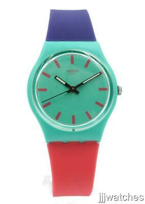New Swatch Originals SHUNBUKIN Multicolor Silicone Watch 34mm GG215 $70