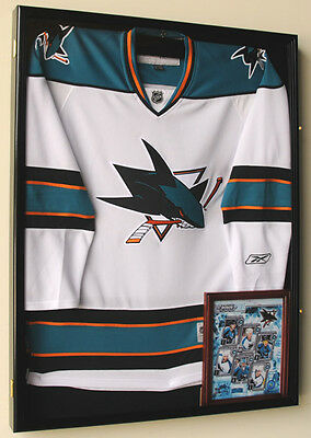(XL Hockey Jersey Display Case Shadow Box Cabinet Sports NHL Case)