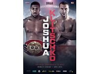X 6 Anthony Joshua vs Wladimir Klitschko Fight Tickets (QUICK SALE)