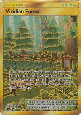 1 x Pokemon Viridian Forest - 256/236 - Secret Rare Sun & Moon—Unified Minds - N