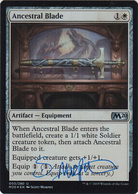 MTG Ancestral Blade M20 Core 2020 FOIL Signed by Artist Scott Murphy w/ COA NM for sale  Shipping to South Africa