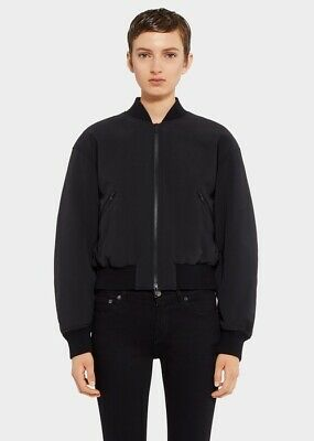 Versus By Versace Womens Black Bomber Jacket Size 44 IT 8 US