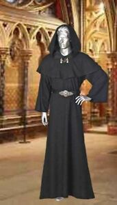 Medieval-Wicca-Pagan-Ritual-Robe-with-Hood-Handmade-Natural-Cotton