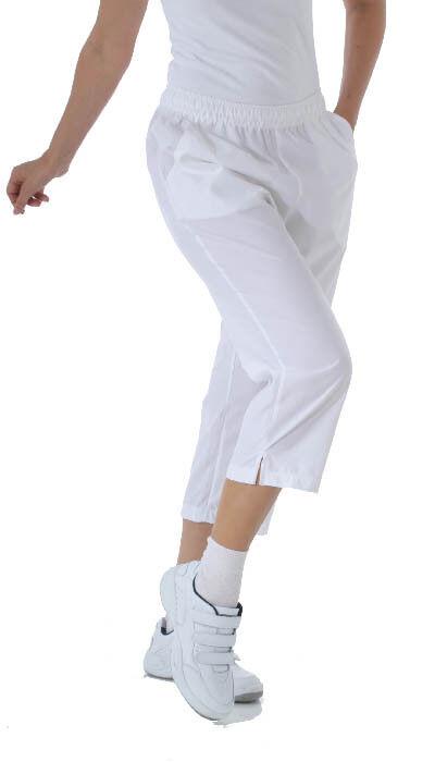 Damen Caprihose 3/4 lang Freizeit Sport Beruf Reha Klinik Walking Weiß Blau Redu