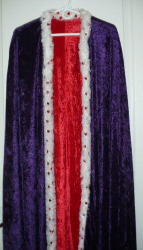 Purple & Red Cloak/Cape/Robe for Ritual, Role Play, Renaissance Wear