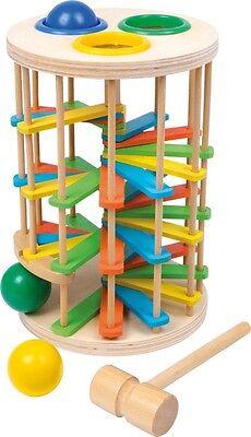 Klopfkugelturm Groß für Kinder Holz Klopfkugelbahn Klopfbank Spielzeug Neu