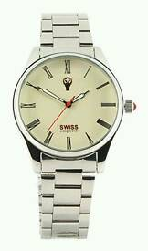 Swiss emporior stainless steel men's wrist watch