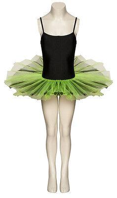 Schwarz & Grün Kostüm Halloween Tanz Tutu Outfit Kostüm Alle Größen von Katz