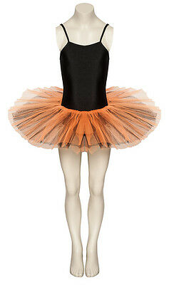 Schwarz & Orange Kostüm Ballett Tanzen Tutu Outfit Kostüm Alle Größen von (Alle Orange Kostüm)