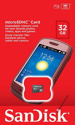 SanDisk 32GB microSD 32G micro SD SDHC microSDHC C4 Flash card SDSDQ-032G *Retai