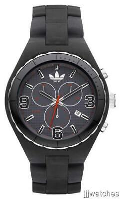 New Adidas Cambridge Chronograph Black Resin Band Date Watch 50mm ADH2569 $95