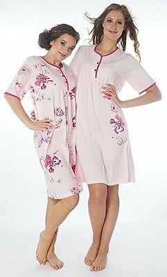 Damen-Nachthemd 2 Stück  (DF844/845 rot )Gr.: 38-40 .Aus reiner Baumwolle-Jersey - Rote Damen Nachthemd