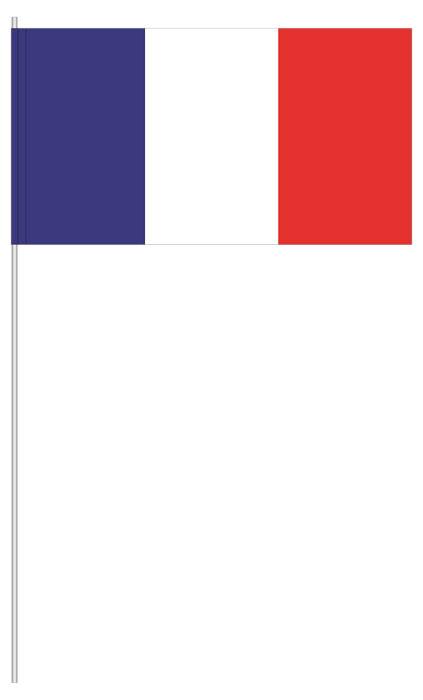 Papierfähnchen | Papierfahnen Frankreich ab 10 Stück
