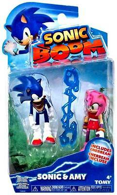SONIC BOOM SONIC & AMY ROSE FIGURE SET WITH ENERBEAM Sonic The Hedgehog 2-pack