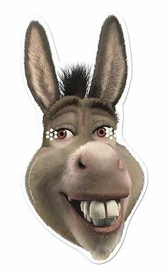 Esel aus Shrek Einzeln Karton Party Spaß Gesichtsmaske - Eddie Murphy