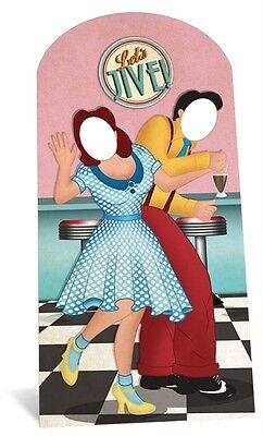 1950's Let's Jive Cardboard Cutout Stand In. Great for your Jive Party Photos! (Photo Stand Ins For Parties)