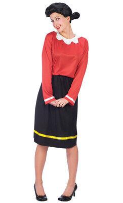 Brand New Classic Olive Oyl Popeye Adult Halloween Costume