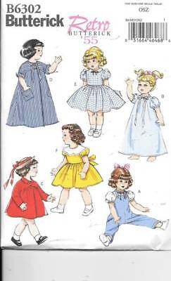 B6302  18 INCH DOLL CLOTHES NEW  SEWING PATTERN BUTTERICK 6302