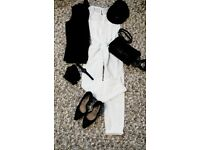 White Playsuit Zara S