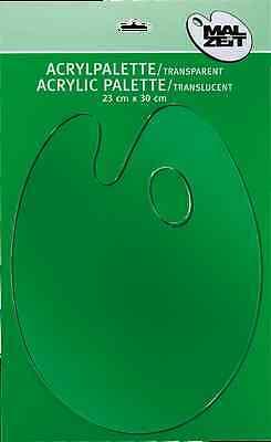 Malpalette für Öl- und Acrylfarben- 23 x 30 cm - transparent - 575453