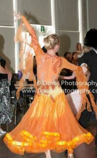 Orange ballroom dress for sale (shipping not included in price) Camden South Camden Area Preview