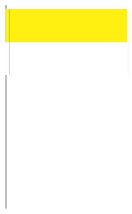 Papierfähnchen | Papierfahnen Gelb & Weiß ab 10 Stück